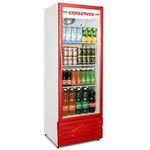 Geladeira Freezer Expositor de Bebibas 400 Litros Conservex Erv 400 Vermelho.