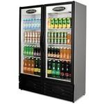 Geladeira Freezer Expositor de Bebibas 2 Portas 850 Litros Conservex Erv 850 Preto e Cinza 220v