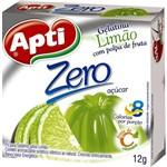 Gelatina Apti Zero Limao Caixa com 12 - 12gr