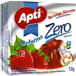 Gelatina Apti Zero Morango Silvestre 12x12g Caixa C/ 12
