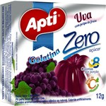 Gelatina Apti Zero Uva Caixa C/ 12