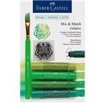 Gelato Faber Castell com um Mix de 4 Tons de Verde - Ref 121804