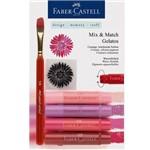 Gelato Faber Castell com um Mix de 4 Tons de Vermelho - Ref 121802