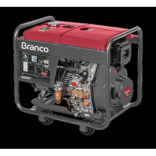 Gerador de Energia Branco, a Diesel, 6,5kVA, Partida Elétrica - BD8000