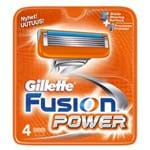 Gillette Fusion Power - Lâminas de Barbear 4 Un