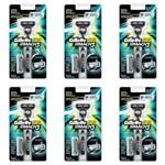 Gillette Mach3 Aparelho de Barbear + 2 Cargas (kit C/06)