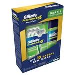 Gillette Sense Care Aparelho de Barbear C/4 + Espuma P/ Barbear