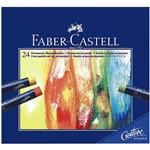Giz Pastel Oleoso Faber-Castell com 24 Cores - Estojo Cartão - Ref 127024