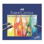 Giz Pastel Oleoso Faber Castell Creative Studio com 24 Cores