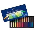 Giz Pastel Seco Macio Cs Estojo 24 Cores 128224 - Faber Castell
