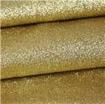 Glitter Fino com PU Importado Ouro