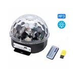 Globo Bola Maluca Mp3 Led Magic Cristal Rgb Anima Festa
