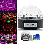 Globo de Luz para Festa com Bluetooth USB e Pen Drive Bola Maluca Magic Ball 6 Cores