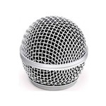 Globo Metálico Prata MXT P/ Microfone Altura 50 Mm Rosca 31 Mm - AC1703