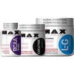 Glutamina 300g + Bcaa 100 Caps + Creatina 150g Max Titanium