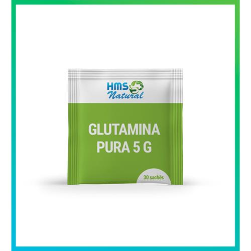 Glutamina Pura 5g - 30 Sachês Vegan 30 Sachês