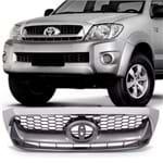 Grade Dianteira Toyota Hilux Pick-up 2009 2010 2011 - Cinza com Moldura Cromada
