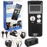 Gravador de Voz Digital 8gb Escuta Telefônica Mp3 Knup Kp-8011