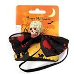 Gravata Borboleta Cabeça de Esqueleto - Halloween