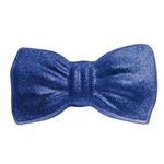 Gravata Borboleta Glitter Carnaval Acessório Fantasia Azul