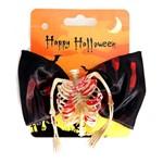 Gravata Borboleta Meio Esqueleto - Halloween