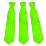 Gravata Plástica Verde Neon C/ 12 Unds
