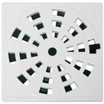Grelha Plastica Quadrada Branca 10x10 (com Fecho)