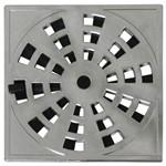 Grelha Plastica Quadrada Cromada 10x10 (com Fecho)