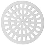Grelha Plastica Redonda Branca 15x15