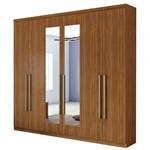 Guarda Roupa Alonzo New 6 Portas com Espelho - Rovere Soft