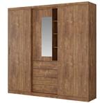 Guarda-Roupa Aries 1071 2 Portas de Correr C/ Espelho - Carraro | Elare