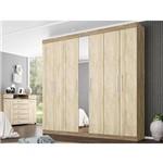 Guarda-roupa Casal 7 Portas London Nogal/vanilla Touch - Demobile