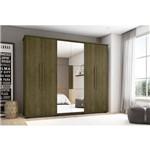 Guarda-roupa Casal Canada com Espelho 6 Portas 4 Gavetas Imbuia