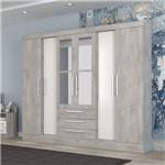 Guarda Roupa Casal Paris Espelho 6 Portas 3 Gavetas Carvalle Demolição/natura Brilho - Atualle
