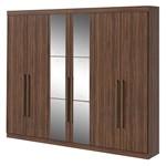Guarda Roupa Castellaro 6 Portas com Espelhos - Imbuia Soft