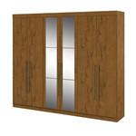 Guarda Roupa Castellaro 6 Portas com Espelhos - Rovere Soft
