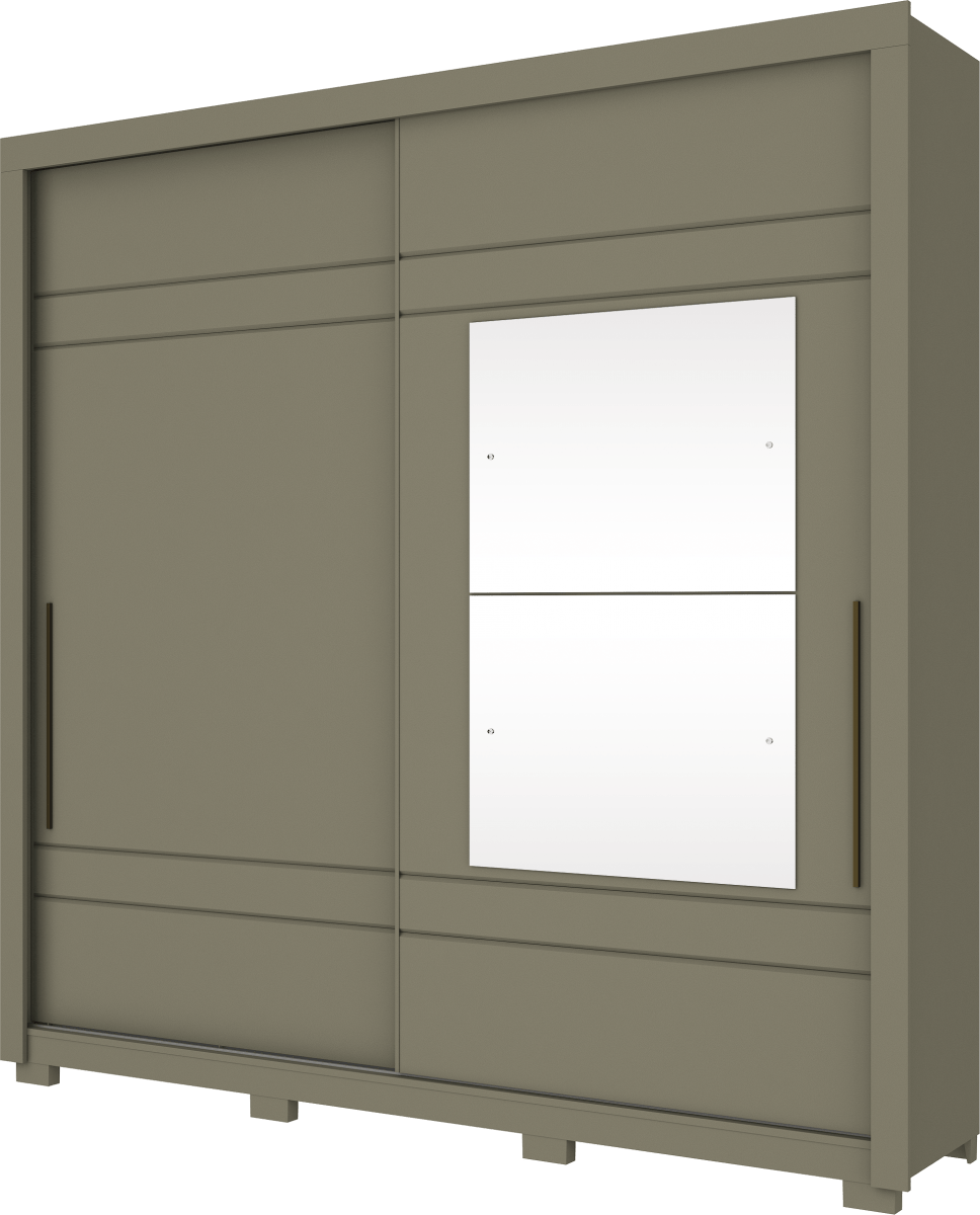 Guarda Roupa Henn Delicato 2 Portas de Correr 2 Espelhos Duna