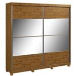 Guarda Roupa Lopas da Vinci New 2 Portas com Espelho e Pes Rovere Soft
