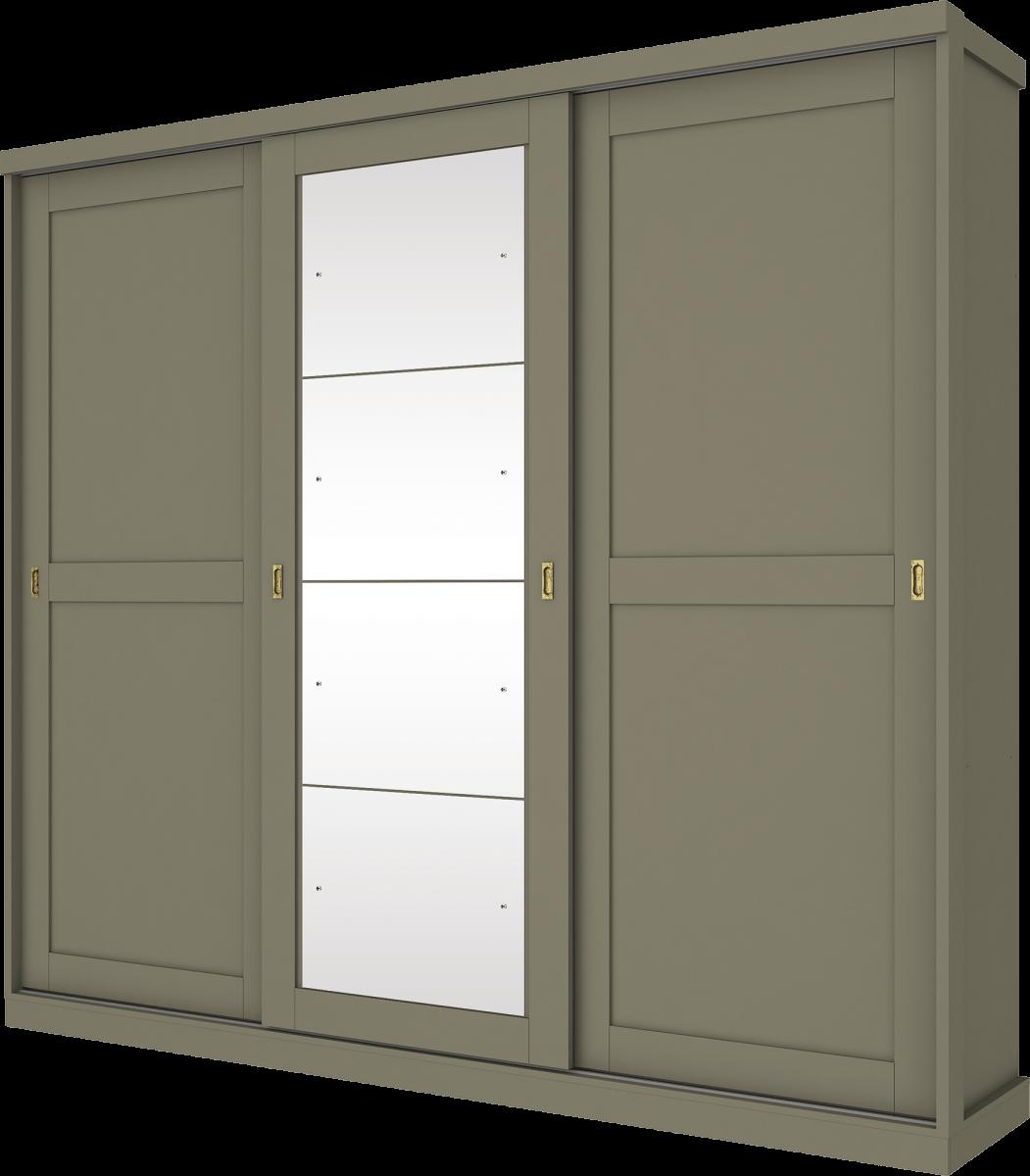 Guarda Roupa Olympia Henn 03 Portas com Espelho Deslizantes Duna D223-23 DUNA D22323DUNA