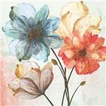 Guardanapo 19592 Flores em Aquarela