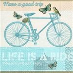 Guardanapo 19611 Bicicleta Retrô