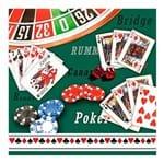 Guardanapo de Papel Casino Verde 20 Peças 33CM - 19452