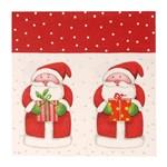 Guardanapo de Papel Mesa Natal Papai Noel 20 Pçs Vermelha