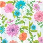 Guardanapo Decoração Flores Coloridas Gua200423 - Toke e Crie