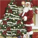 Guardanapo Natal Toke e Crie Papai Noel Fundo Vermelho - 5 Unid