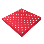 Guardanapo Papel Vermelho Poá Branco 20x21 Guardanapo de Papel Vermelho Poá Branco 20cmx21cm - 50 Unidades