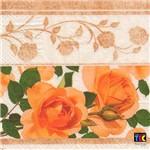 Guardanapo para Decoupage Toke e Crie – 15460 – Rosas Amarelas Barrado (Com 02 Unidades)