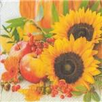 Guardanapo para Decoupage Toke e Crie – 17536 – Girassóis e Frutas (Com 02 Unidades)