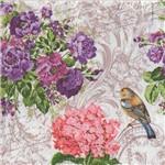 Guardanapo para Decoupage Toke e Crie – 17529 – Pássaro no Jardim (Com 02 Unidades)