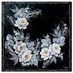 Guardanapo para Decoupage Toke e Crie com 20 Unidades - Rosas Brancas com Fundo Preto - Gbm040 - 19860